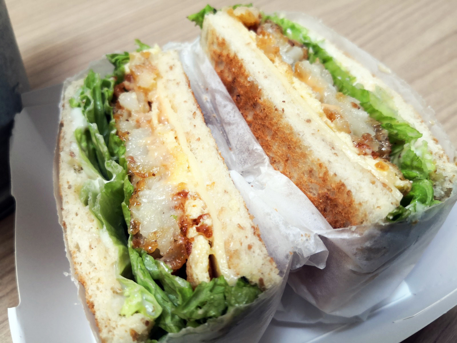 Cheese Hash Brown Sandwich Meat Free Meals Vegetarian Food Kind Meal At Chatto Melaka Kindmeal My
