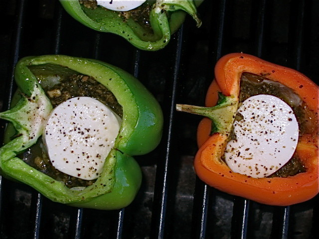 Grilled Bell Peppers Stuffed With Basil Pesto, Boccocini Che.. Recipes