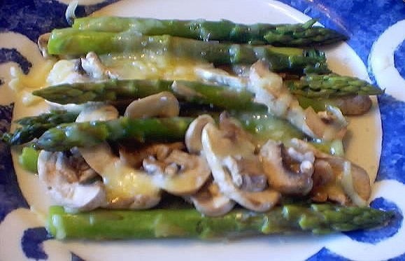 Steamed Asparagus And Mushrooms With Danish Havarti Cheese Recipes